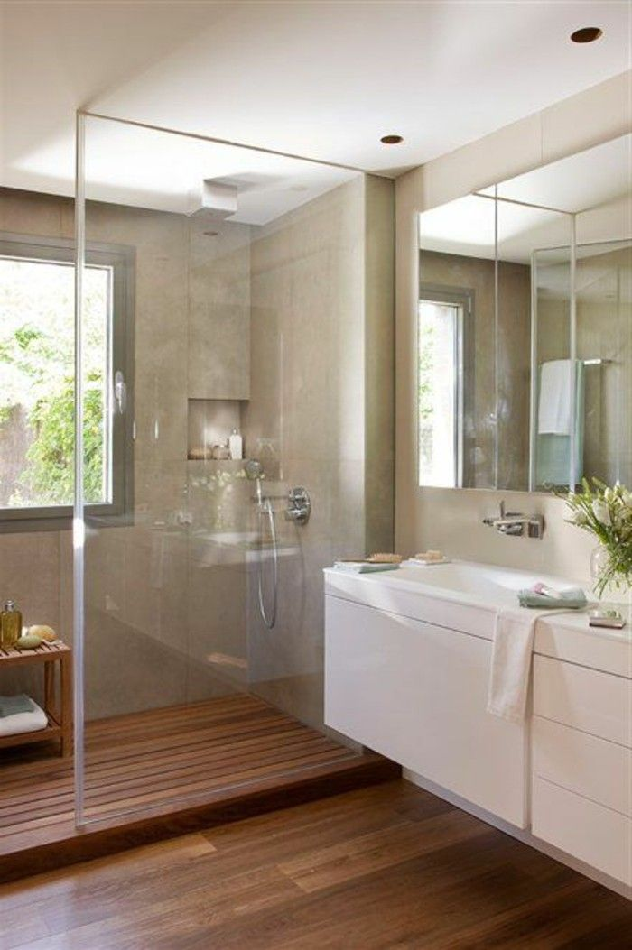 Id e d coration salle de bain meuble salle de bain for Salle de bain 6m2 rectangulaire