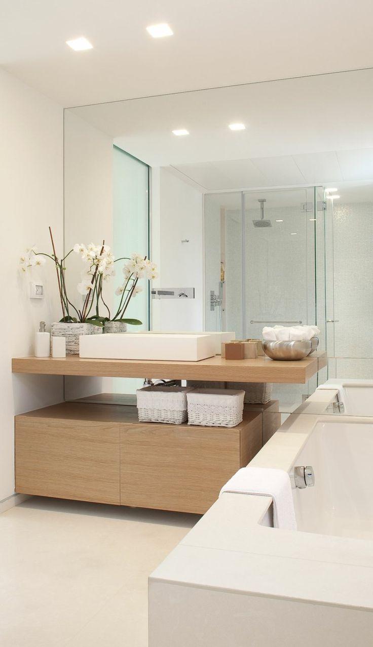 Idée décoration Salle de bain - Meuble scandinave de salle ...
