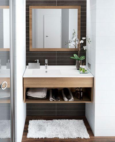 id e d coration salle de bain meuble vasque avec tag re encastr pour ce meuble de salle de. Black Bedroom Furniture Sets. Home Design Ideas