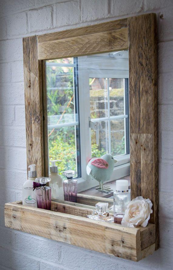 Idée décoration Salle de bain - Miroir de salle de bains rustique en ...