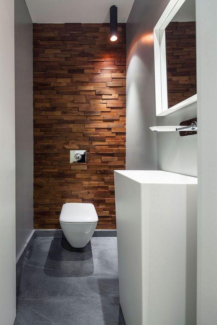 id e d coration salle de bain parement mural en bois effet en 3d dans la salle de toilettes. Black Bedroom Furniture Sets. Home Design Ideas