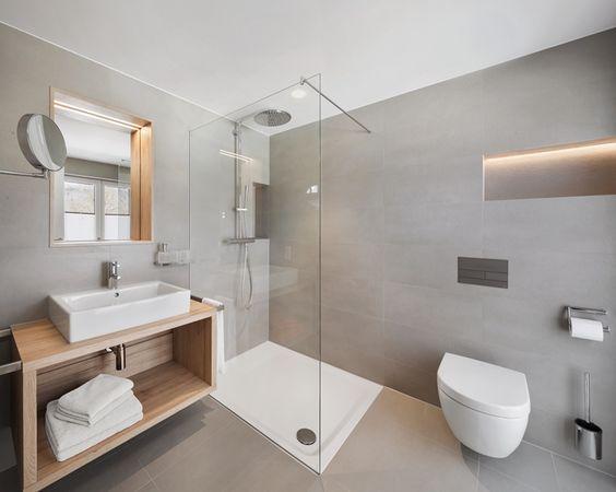 Emejing amenagement toilette contemporary for Salle de bain amenagement