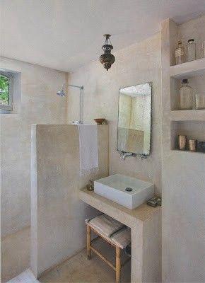 description salle de bain en tadelakt enduit - Enduit Salle De Bain