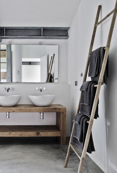id e d coration salle de bain salle de bain sol en b ton. Black Bedroom Furniture Sets. Home Design Ideas