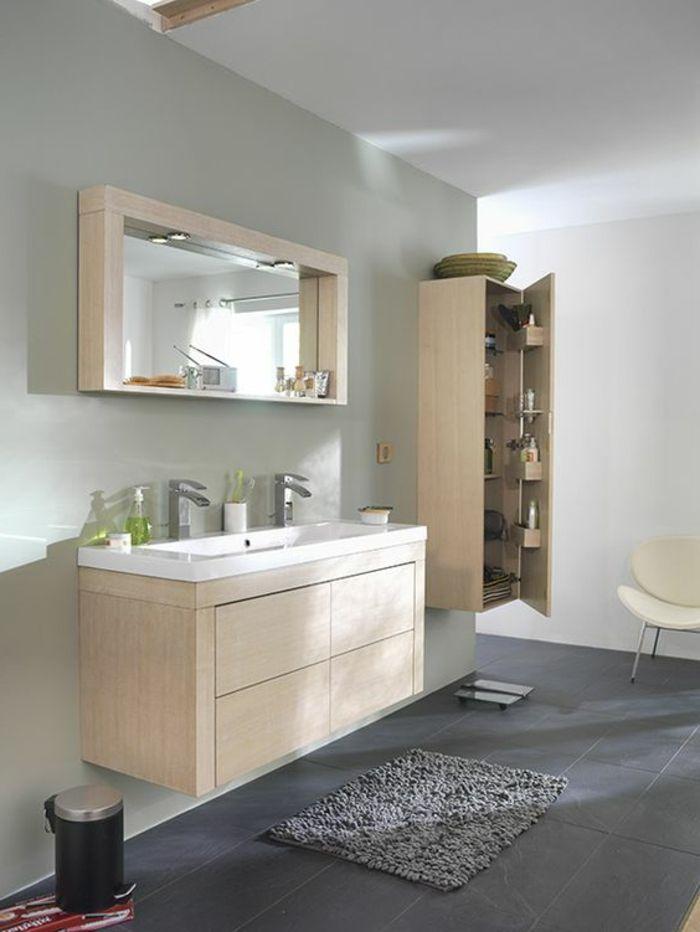 Id e d coration salle de bain salle de bain sol en - Decoration salle de bain rose et gris ...