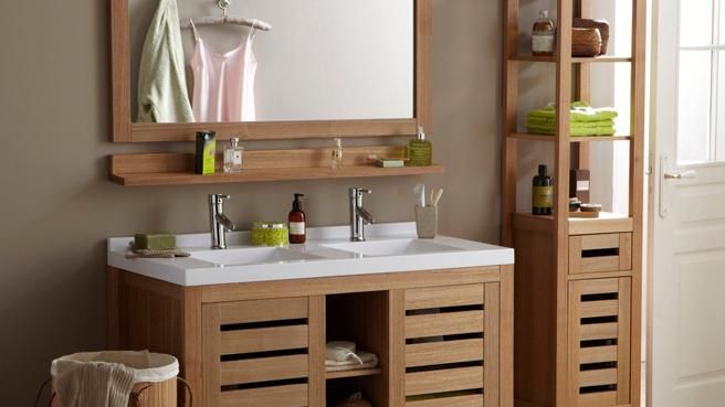 id e d coration salle de bain salle de bains bois la redoute leading. Black Bedroom Furniture Sets. Home Design Ideas