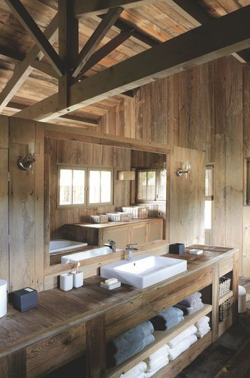 best meuble salle de bain chalet ideas. Black Bedroom Furniture Sets. Home Design Ideas