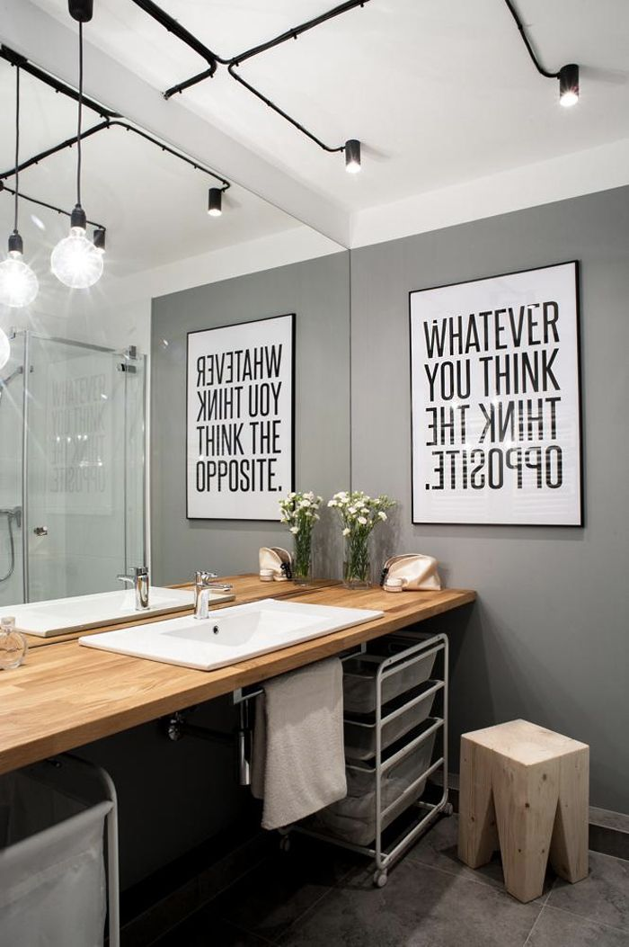 Awesome Idee Couleur Salle De Bain Gris Design Trends