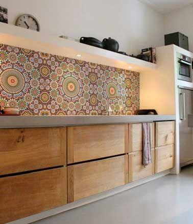 Idée décoration Salle de bain - Une crédence cuisine en carreaux ...
