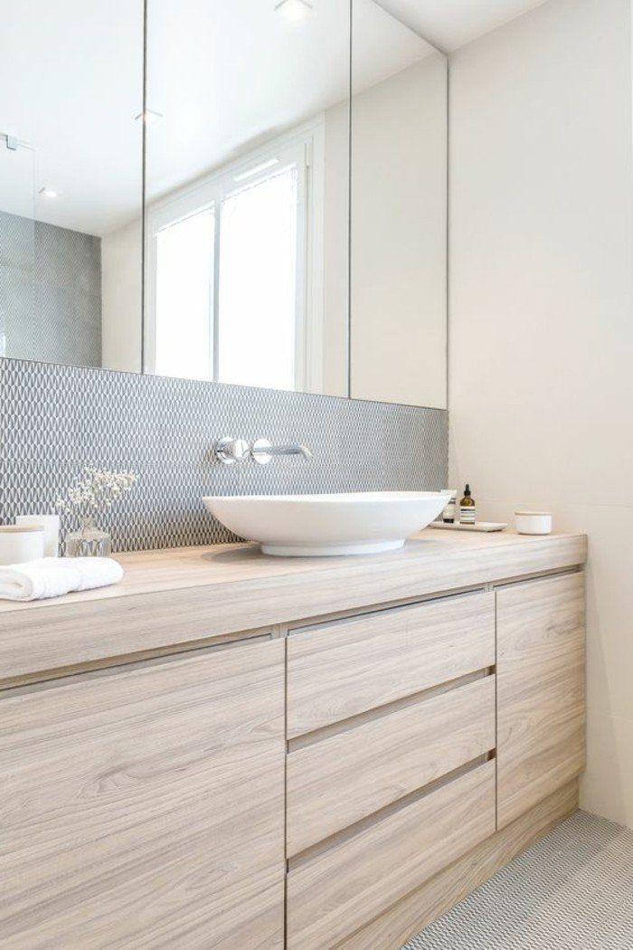 Id e d coration salle de bain vasque salle de bain avec - Salle de bain claire ...