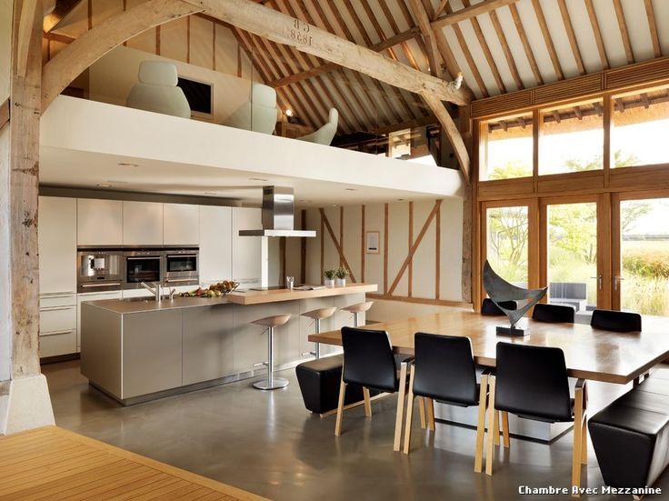 Idée relooking cuisine - Chambre Avec Mezzanine with Contemporain ...