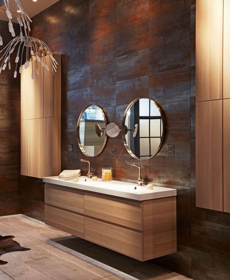 id e relooking cuisine cette salle de bain ikea est majestueuse avec son parquet naturel ses. Black Bedroom Furniture Sets. Home Design Ideas