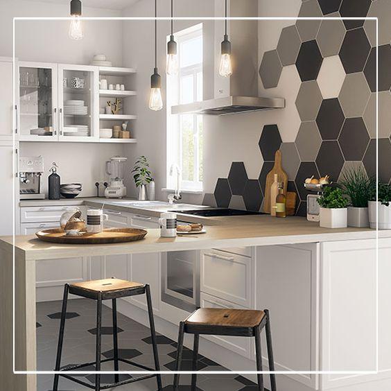 Id e relooking cuisine couleurs claires et chaudes se for Pinterest cuisine deco