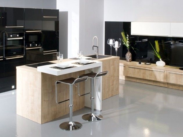 id e relooking cuisine cuisine design avec ilot central leading. Black Bedroom Furniture Sets. Home Design Ideas