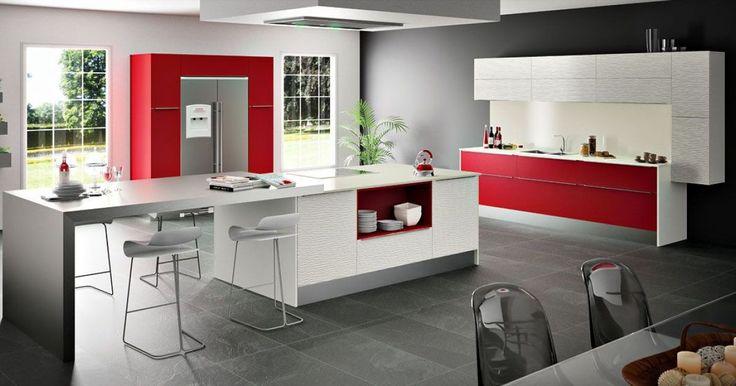 id e relooking cuisine cuisine duba modum par sagne cuisines rouge et blanche www m habitat. Black Bedroom Furniture Sets. Home Design Ideas