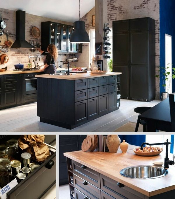id e relooking cuisine lot central cuisine metod ikea avec vier int gr. Black Bedroom Furniture Sets. Home Design Ideas