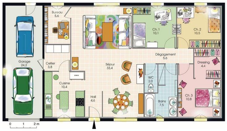 Bekannt Idée relooking cuisine - Plan maison toit terrasse plain-pied Vous  AE82