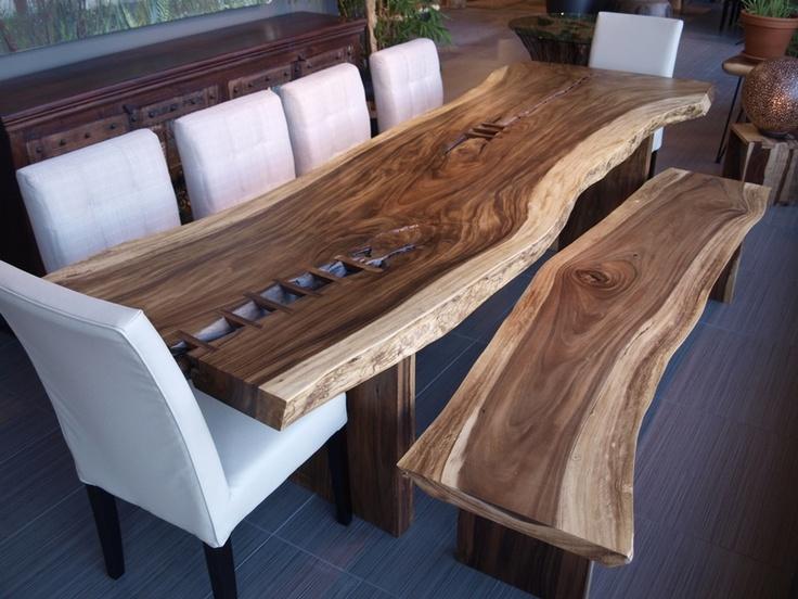 id e relooking cuisine table freeform en bois de suar leading. Black Bedroom Furniture Sets. Home Design Ideas