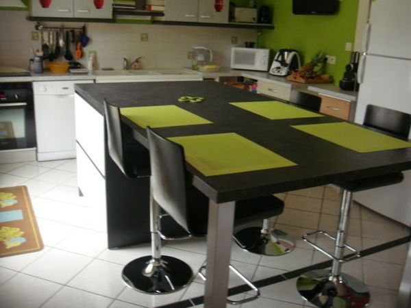 id e relooking cuisine table ilot central leading inspiration culture. Black Bedroom Furniture Sets. Home Design Ideas