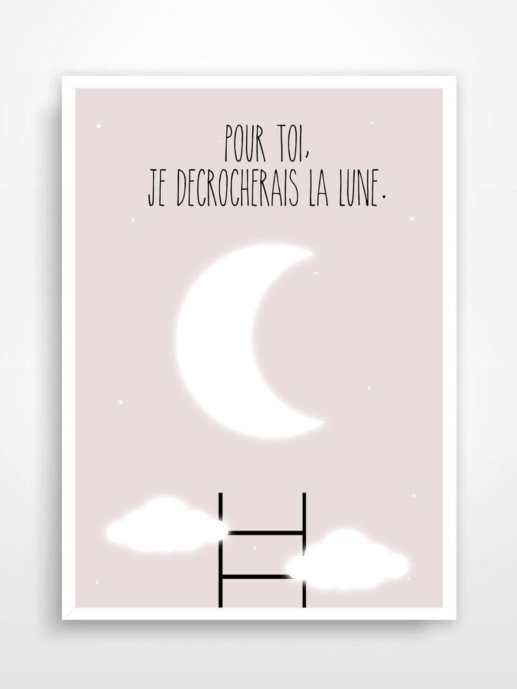 Affiche Déco Pour Chambre Du0027enfant * Lune. : Décoration Pour Enfants Par P U2026