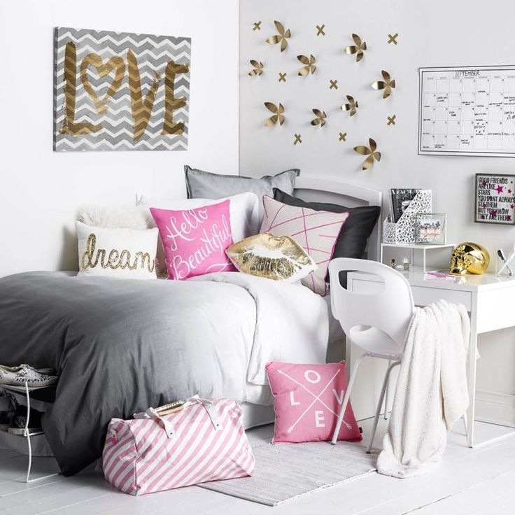 d co chambre ado fille pinterest. Black Bedroom Furniture Sets. Home Design Ideas
