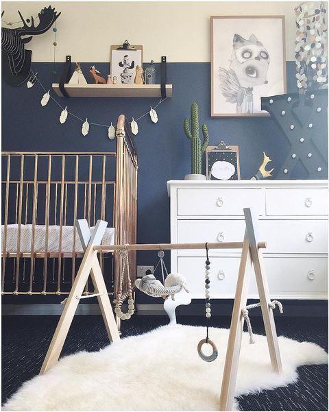 Relooking et décoration 2017 / 2018 - Chambre de bébé bleue ...