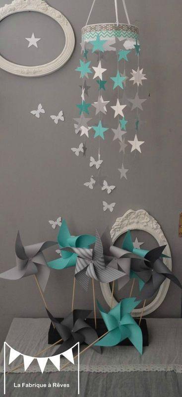 relooking et d coration 2017 2018 mobile toiles turquoise blanc gris d coration chambre. Black Bedroom Furniture Sets. Home Design Ideas