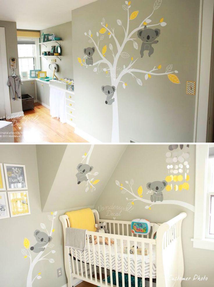 Relooking et décoration 2017 / 2018 \u2013 Stickers Koala pour la chambre de nos  bébés!