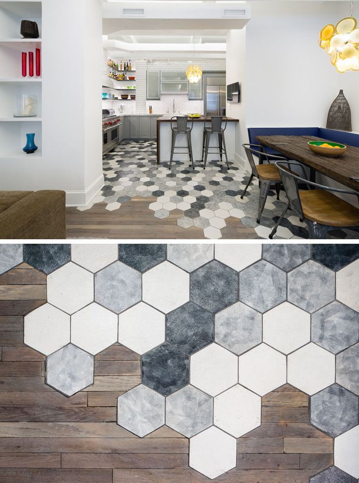 Salle manger 19 ideas for using hexagons in interior for Architecture interior design new york