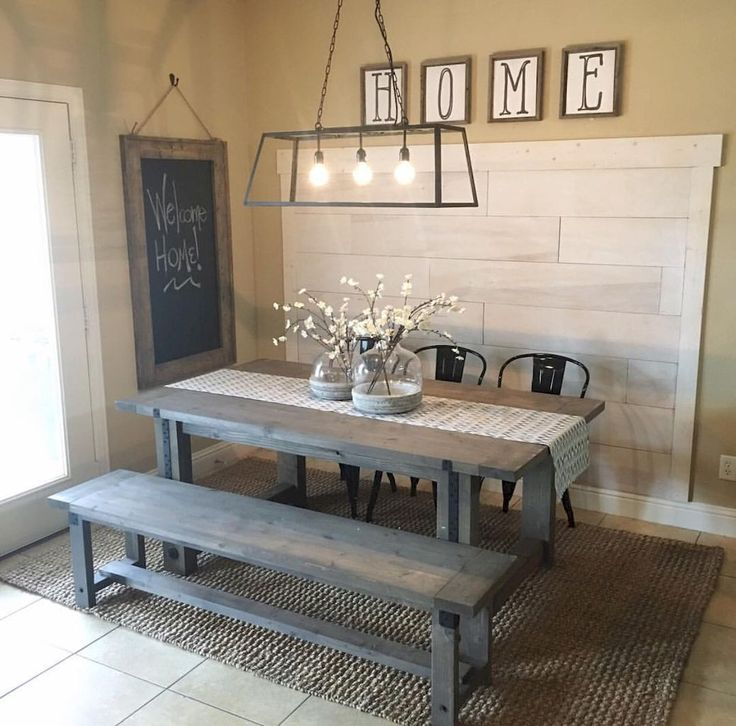 Description Cool 70 Lasting Farmhouse Dining Room Table And Decorating Ideas