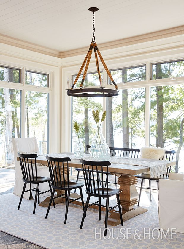 Description Full Height Windows Give This Cottages Relaxed Dining Room