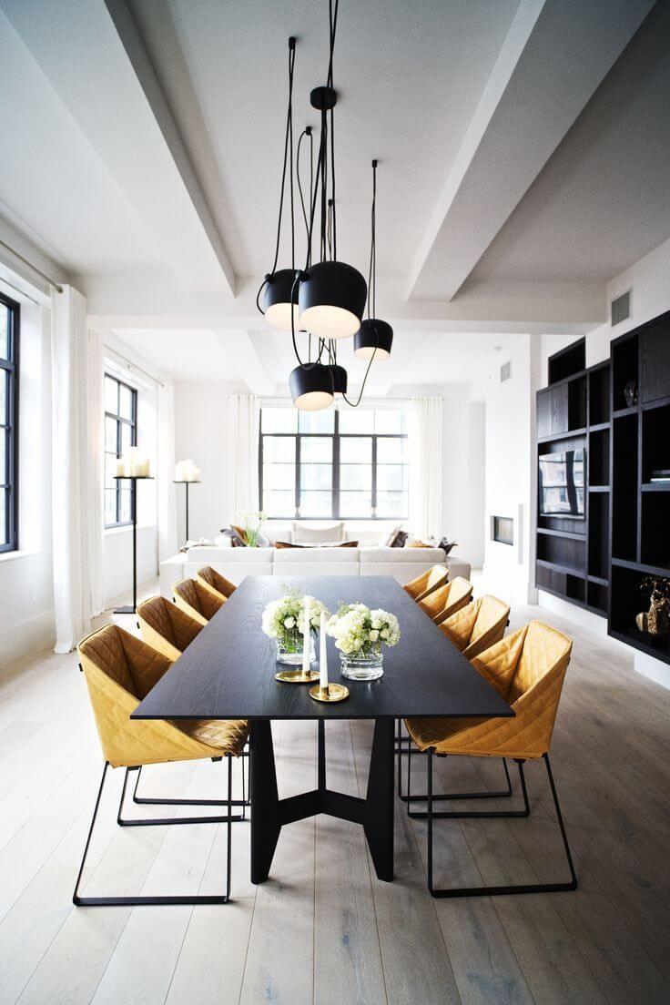 salle manger magnifique salle manger la d coration industrielle extr mement chic. Black Bedroom Furniture Sets. Home Design Ideas
