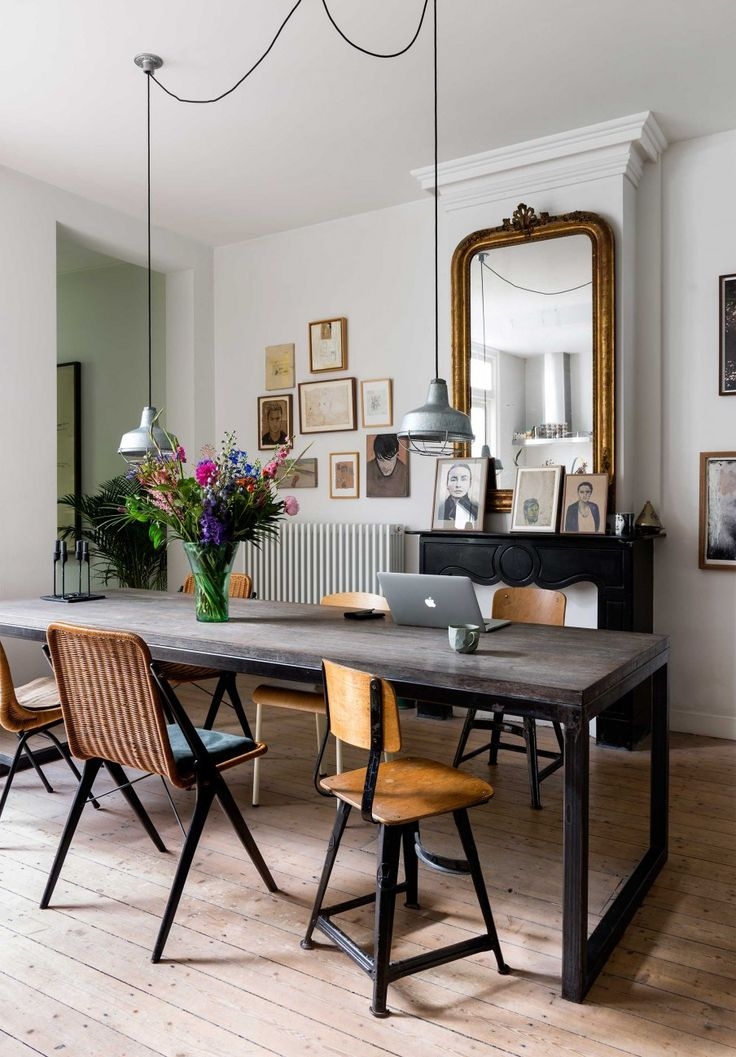 salle manger un int rieur boh me amsterdam leading inspiration. Black Bedroom Furniture Sets. Home Design Ideas