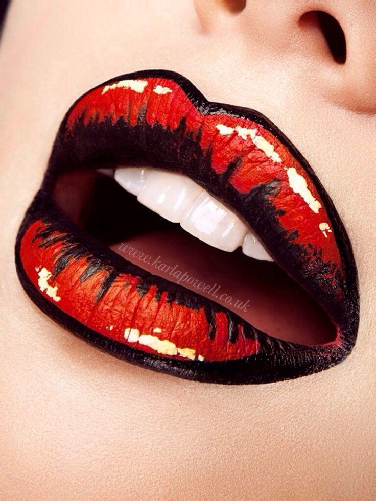 tendance maquillage yeux 2017 2018 pop art lips ka powell 39 creative lip art make up. Black Bedroom Furniture Sets. Home Design Ideas