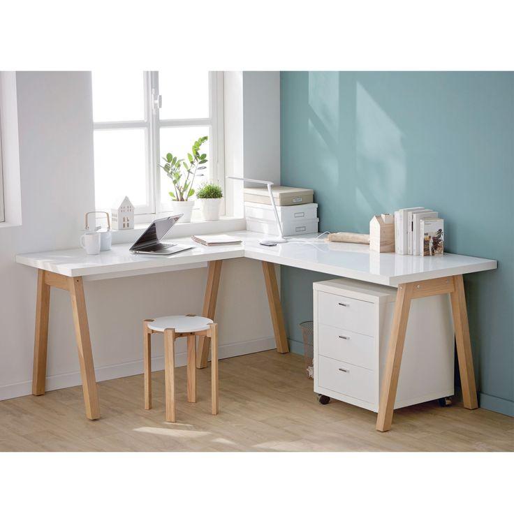 d co salon oslo bureaux adultes bureaux bureau blanc d. Black Bedroom Furniture Sets. Home Design Ideas