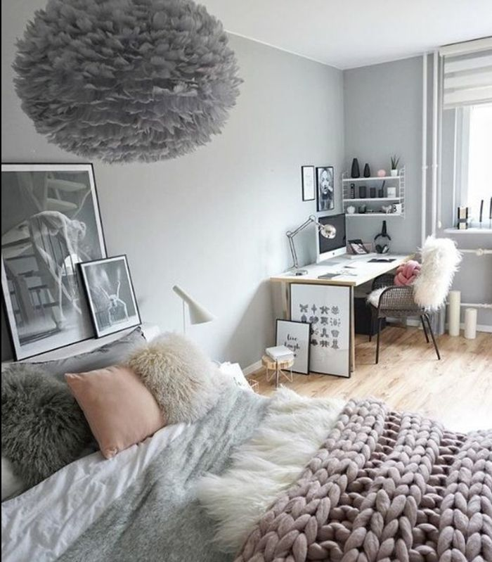 D co salon couleur mur gris perle linge de lit gris for Mur gris et blanc