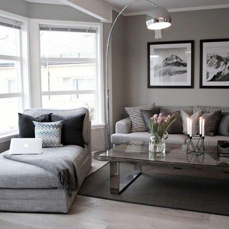 Déco Salon - déco de salon en gris moderne... - ListSpirit.com - Leading Inspiration, Culture ...