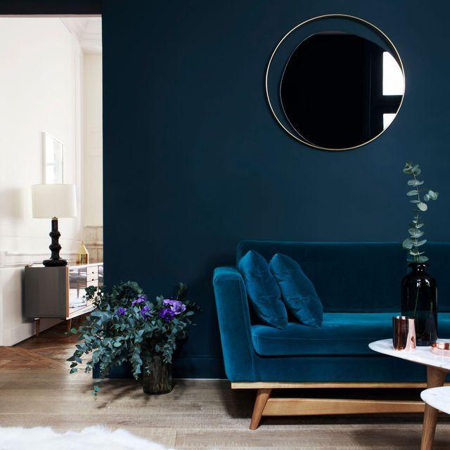 D co salon le bleu marine est le nouveau noir - Le salon noir ...