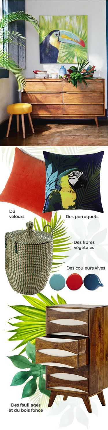 d co salon tendance d co 2016 jungle brazil maisons du monde leading. Black Bedroom Furniture Sets. Home Design Ideas