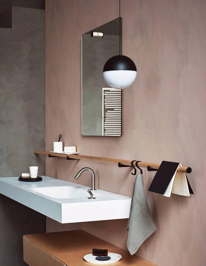 D co salon une salle de bains design qui ose le rose for Salon oriaction 2017