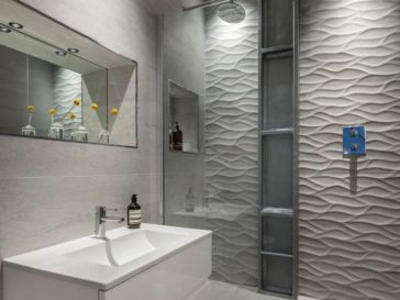 Id e d coration salle de bain il y a quelques points for Changer carrelage salle de bain