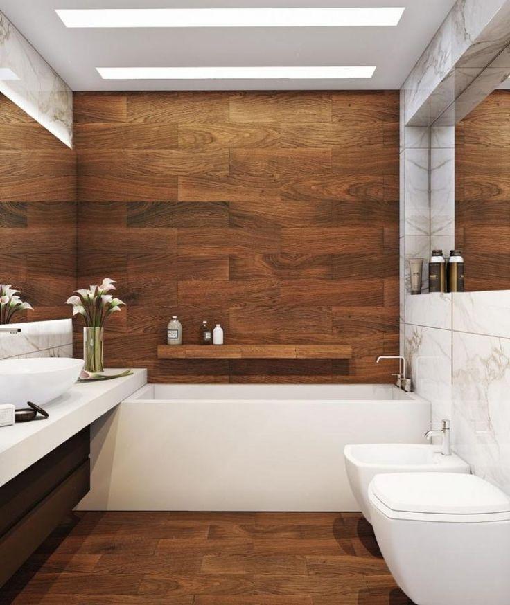 Idée décoration Salle de bain - carrelage sol salle de bain effet ...