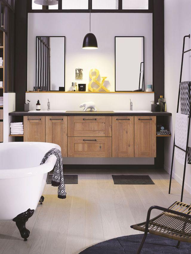 id e d coration salle de bain dans une salle de bains de style indus place un meuble vasque. Black Bedroom Furniture Sets. Home Design Ideas