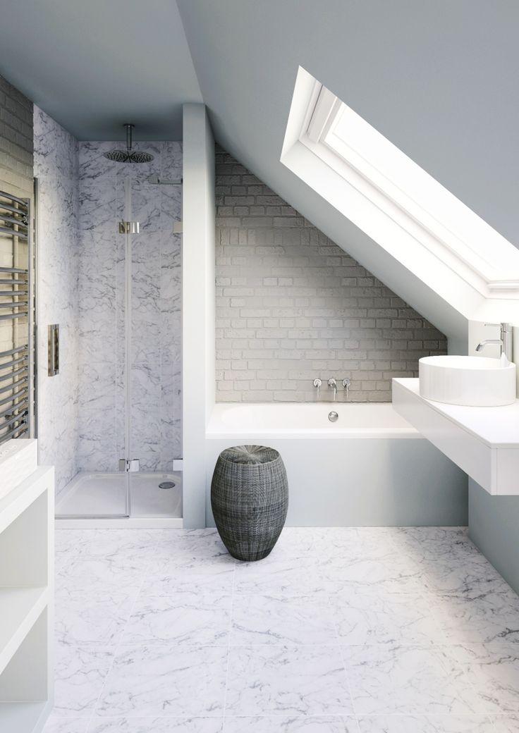 Id e d coration salle de bain loft conversion bathroom - Salle de bain loft ...