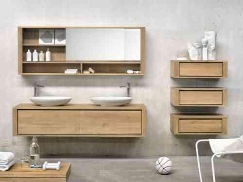 Id e d coration salle de bain meuble salle de bains en for Idee deco salle de bain bois