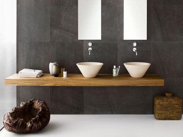 Beautiful Carrelage Salle De Bain Gris Fonce Images  Design Trends