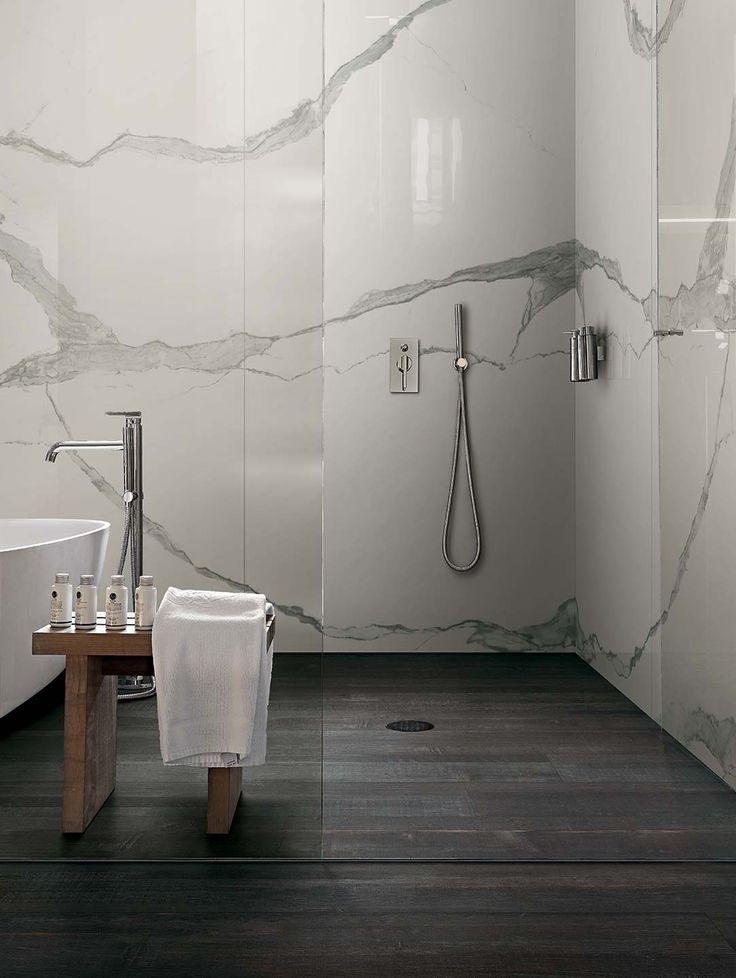 les 25 meilleures idées de la catégorie carrelage imitation marbre ... - Carrelage Gris Salle De Bain