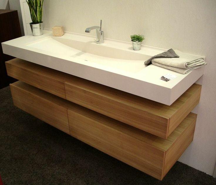 idée décoration salle de bain - plan vasque en varicor ... - Photos Vasque Salle De Bain