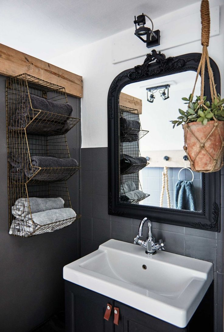 id e d coration salle de bain playful black and grey home in the netherlands gravityhomeblog. Black Bedroom Furniture Sets. Home Design Ideas