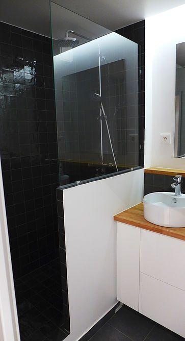 Id e d coration salle de bain salle de bain douche l for Idee deco salle de bain douche italienne